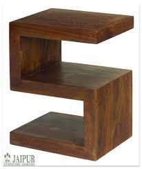 Wood Side Table Solid Mango Wood Side Table S Shape