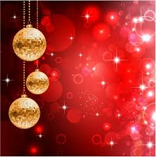 festive background with three disco balls and glares free vector in