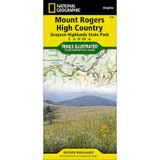 Virginia State Parks Map 318 Mount Rogers High Country Grayson Highlands State Park Trail