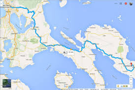 Shortest Route Map by The Long And Winding Road To Bicol Travel Up