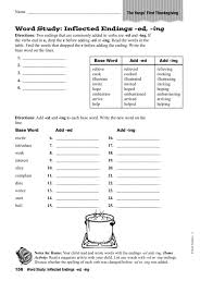 inflectional endings ing lesson plans u0026 worksheets