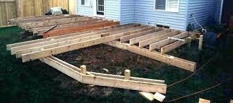how to build a deck frame deck framing diy steel deck frame u2013 us1 me