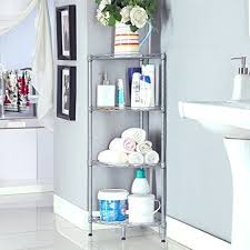 Free Standing Kitchen Storage by Bathroom Corner Shelf Wire Mesh Standing Kitchen Storage Rack 3