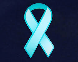 teal ribbons large paper teal ribbons ovarian cancer