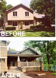 tri level home add stairs outside and create a porch eliminate one set of stairs