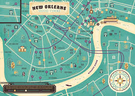 New Orleans Map by Herb Lester New Orleans Map On Behance