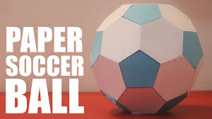 how to make a paper soccer ball youtube