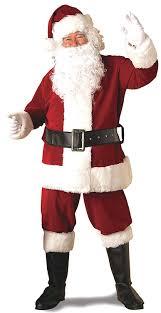 santa costumes rubie s deluxe ultra velvet santa suit clothing