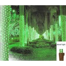 2 x 8 green led net style tree trunk wrap lights