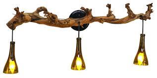 Rustic Bathroom Lighting - old vine vanity corvina grapevine and bottle light rustic