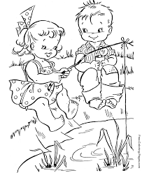 summer coloring pages fishing fun 11