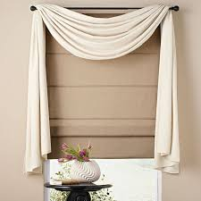 Window Scarves For Large Windows Inspiration Guest Bedroom Curtain Idea Already The Blind And Rod Just