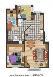 black white floor plan house stock vector 245633587 shutterstock