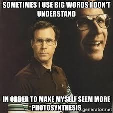 Big Words Meme - sometimes i use big words i don t understand in order to make myself