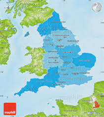 Maps Of England by Political Shades Map Of England Physical Outside