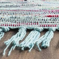 Fabric Rug Amazon Com Safavieh Rag Rug Collection Rar121b Hand Woven Blue