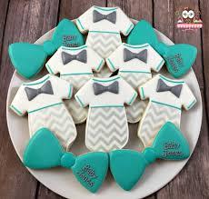 little man cookies baby shower cookies bow tie cookies onesie