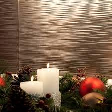 fasade kitchen backsplash panels amazon com fasade easy installation ripple brushed nickel