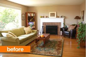 room transformation before after joanne s warm to cool living room