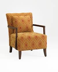 Upholstered Accent Chairs by Furniture Comfortable Orange Patterned Fabric Upholstery Accent
