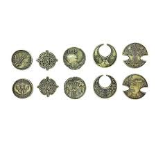 adventure coins elven 10 pack by norse foundry tokens d20