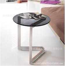 Small Sofa Table by Simplicity Of Stainless Steel Tempered Glass Side Corner Mobile