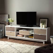 Modern Furniture Tv Stand Furniture Of America Dekisa Contemporary 2 Tone Mid Century Style
