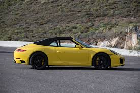 custom porsche 2017 2017 porsche 911 carrera s cabriolet yellow mustcars com