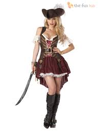 deluxe ladies pirate costume pirate lady womens fancy dress