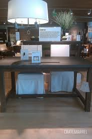 crate and barrel phoenix work table focal point styling store tour crate barrel