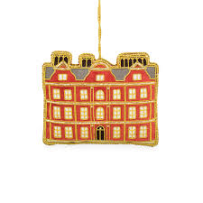 kew palace luxury embroidered hanging tree decoration
