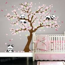 Tree Nursery Wall Decal Cherry Blossom Tree Wall Decal Nursery Together With Panda