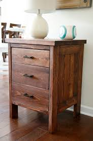 Free Simple End Table Plans by Ana White Build A Chest Of Drawers From 2 By 4s Free And Easy