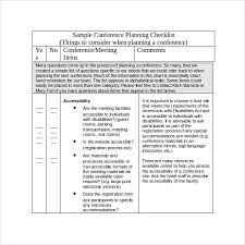 sample conference planning template 9 free documents in pdf word
