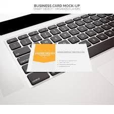 Business Card Mockup Psd Download Business Card Mock Up On Laptop Psd File Free Download
