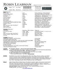 student actor resume template sample theatre acti saneme