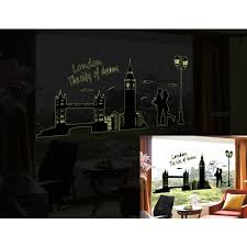 glow in the dark wall stickers city themes london new york paris