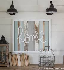 reclaimed wood turquoise home sign by start at home decor