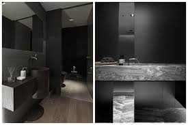 come to the dark side with these inky bathroom design ideas