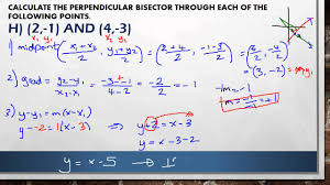 c1 3 3 perpendicular bisector questions youtube