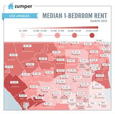 Map Of Los Angeles Beach Cities by Mapping The Cheapest And Most Expensive Places To Rent In Los