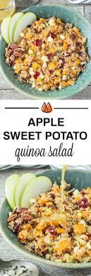 apple sweet potato quinoa salad recipe vegan thanksgiving