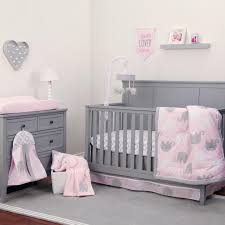 Bedding Set Crib Nojo The Dreamer Collection Elephant Pink Grey 8 Crib