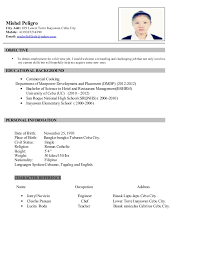 resume example in tagalog resume ixiplay free resume samples