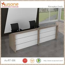 stupendous office reception desk designs maple and white office