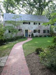 brick pathway front yard entrance shade walkways pinterest