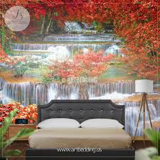 waterfall wall mural deep forest jungle photo mural artbedding waterfall wall mural deep forest jungle photo mural self adhesive peel stick nature