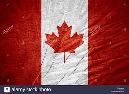 Candaian Flag Canada Flag Or Canadian Banner On Wooden Texture Stock Photo