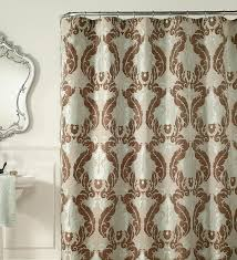 teal cocoa jacquard luxury shower curtain u2014 bitdigest design