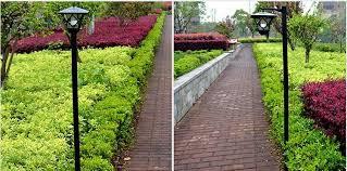 height 1 5m led solar lawn l outdoor light landscape garden
